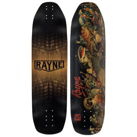 Rayne Fortune 100 Demons series longboard deck