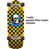 Powell Peralta Ripper Chekered Yellow skateboard complete