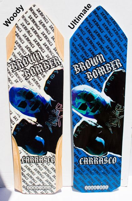 SK8Kings Richy Carrasco Brown Bomber Pro Ultimate Carbon Fiber slalom deck - 32.5 x 9