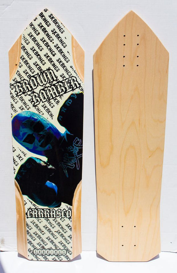 SK8Kings Richy Carrasco Brown Bomber Pro maple slalom deck - 32.5 x 9