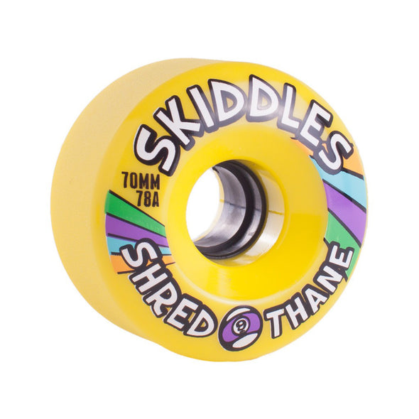 Sector 9 Skiddles 70mm 78a Yellow longboard wheels