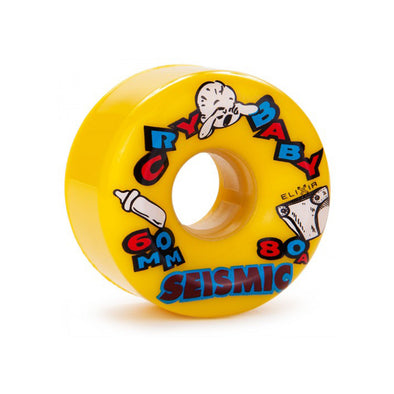 Seismic Cry Baby 60mm 80a Yellow longboard wheels