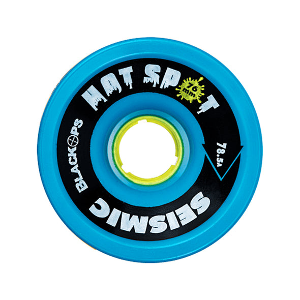 Seismic Hot Spot 76mm 78.5a Blue Black Ops formula longboard wheels