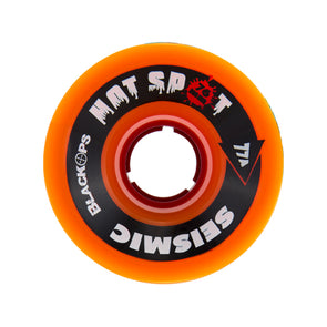 Seismic Hot Spot 76mm 77a Orange Black Ops formula longboard wheels