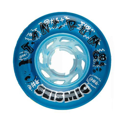 Seismic Tantrum 68mm 81a clear blue freeride wheels