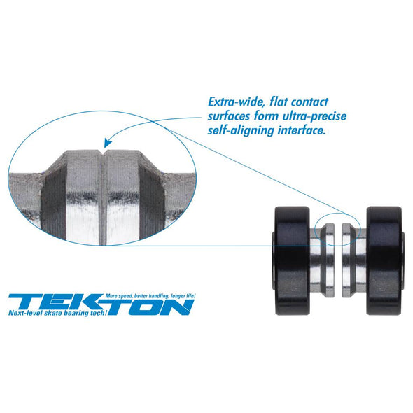 Seismic Tekton 6-Ball XT Steel Built-In longboard bearings