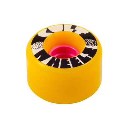 Cult 1st 63mm 80a yellow longboard wheel