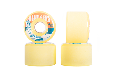 Nana Bludgers 62mm 82a mini longboard wheel in yellow