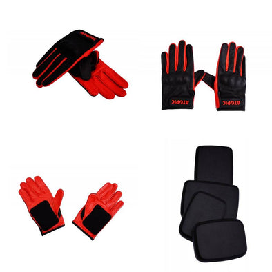 Atopic Petting downhill sliding gloves with pucks