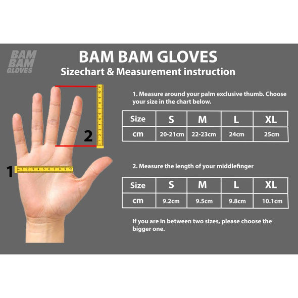 Bam Bam Classic Longboard Leather Gloves black/red