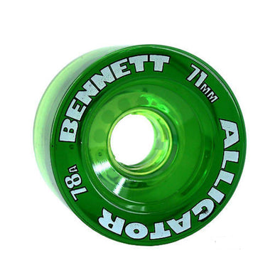 Bennett 71mm Alligator 78a clear green longboard wheels