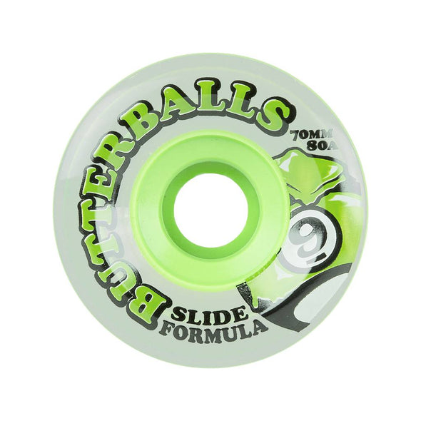 Sector 9 Butterballs 70mm 75a Clear Green longboard wheels