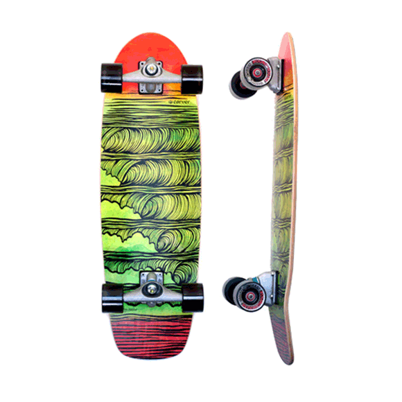 Carver Stacked 31.25 inch surfskate complete