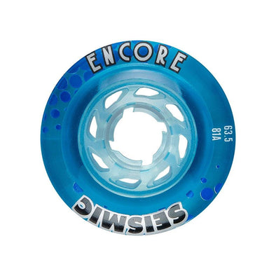 Seismic Encore 63.5mm 81a Crystal Clear Blue longboard wheels