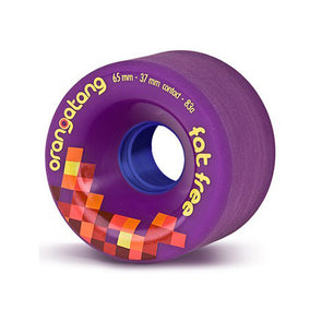 Orangatang Fat Free 65mm 83a Purple mini slide wheels