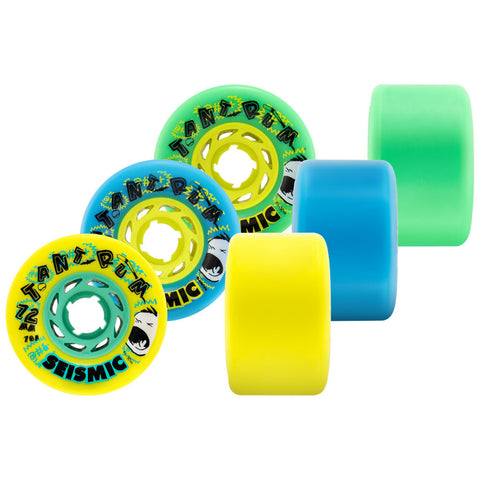 Seismic Tantrum 72mm longboard wheels