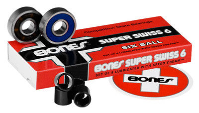 Bones Super Swiss 6 Skateboard Bearings