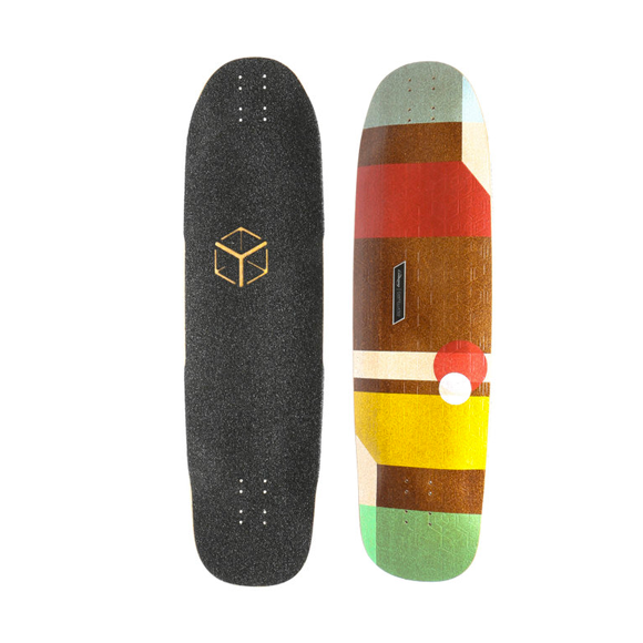 Loaded Cantellated Tesseract longboard deck