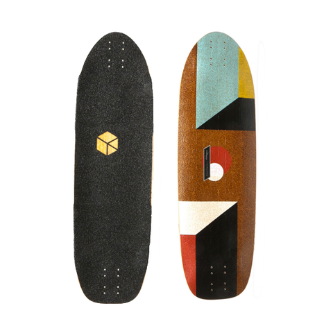 Loaded Truncated Tesseract longboard deck