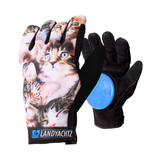 Landyachtz Cat Pattern freeride longboard slide gloves