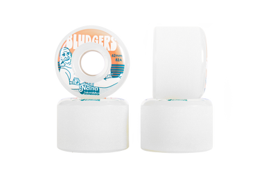 Nana Bludgers 62mm 82a mini longboard wheel in white