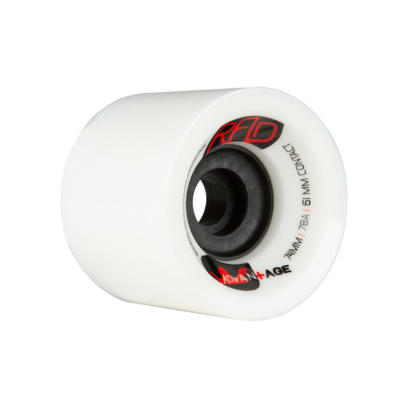 RAD Advantage 74mm 78a longboard wheels