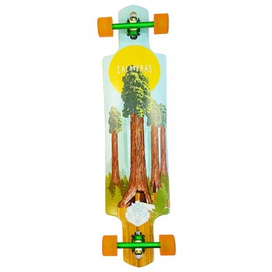 Remember Collective Calaveras 40 inch drop thru longboard complete