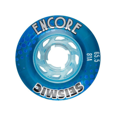Seismic Encore 65.5mm 81a Crystal Clear Blue longboard wheels