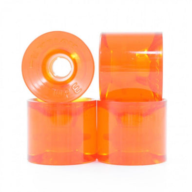 Seismic 3DM Avila 75mm 73a clear orange longboard wheels