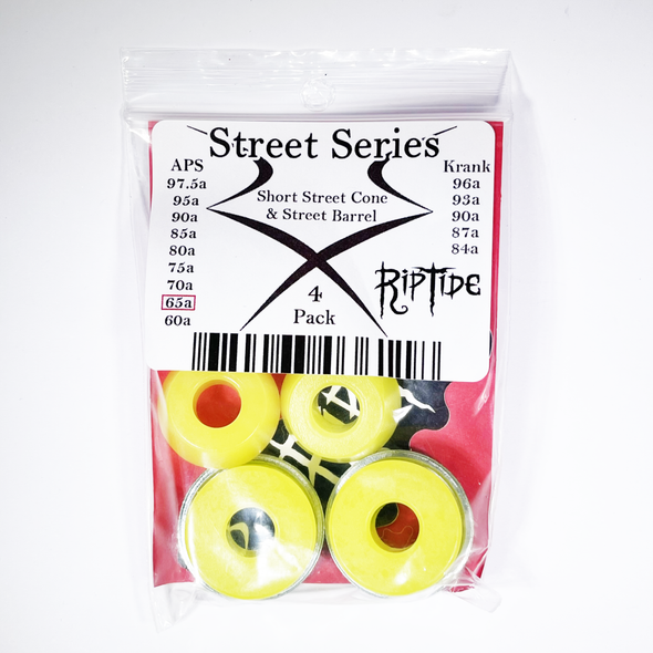 RipTide APS Short Street Cone and Street Barrel skateboard bushing kit