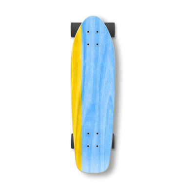"Hopkin Split 26"" yellow/blue mini cruiser"