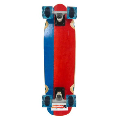 "Hopkin Split 26"" clear blue and red mini cruiser"