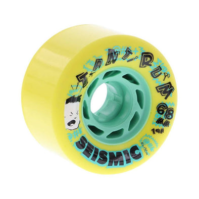 Seismic Tantrum 68mm 79a yellow freeride wheels