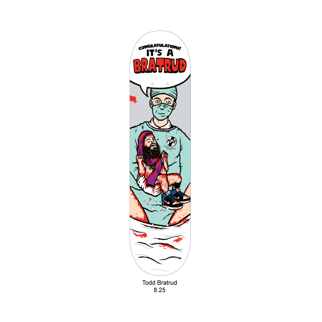 Pocket Pistols Bratrud Tribute skateboard deck