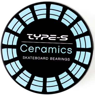 Type S ceramic skateboard bearings