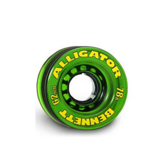 Bennett 62mm Alligator 78a clear green longboard wheels
