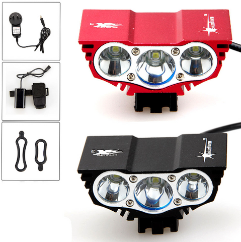 6000 Lumen 3x CREE XM-L U2 LED Head Front Bicycle bike HeadLight Lamp - Factory 46