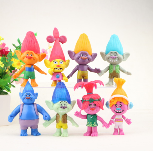 8Pcs/set DreamWorks Trolls PVC Action Figures Trolls Doll Toys For Kids