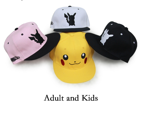 Pokemon Go ball Cosplay Cap Adult or Kids Pikachu Novelty Pokemon Hat Very popular