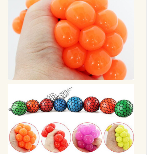 Anti Stress Face Reliever Grape Ball Autism Mood Squeeze Relief - Factory 46