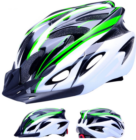 11 Colors Ultralight Cycling Helmet + Cycling Glasses Bicycle Helmet Women Men Integrally-molded Bike Helmet Visor