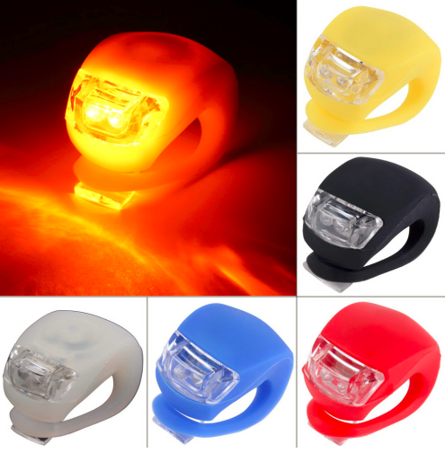 1 pc Wholesale Silicone Bike Light Bicycle Cycling Head Front Rear Wheel LED - Factory 46