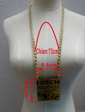 Laser acrylic Hip hop BITCH DONT KILL MY VIBE chains necklace