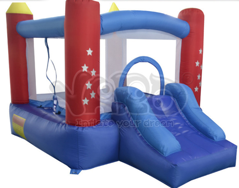 Residential mini inflatable castle bounce house jumping moonwalk tramopline jumper