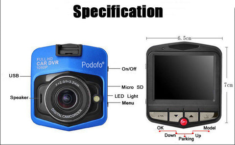 Original Podofo A1 Mini Car DVR Camera Dashcam Full HD 1080P Video - Factory 46 - 1