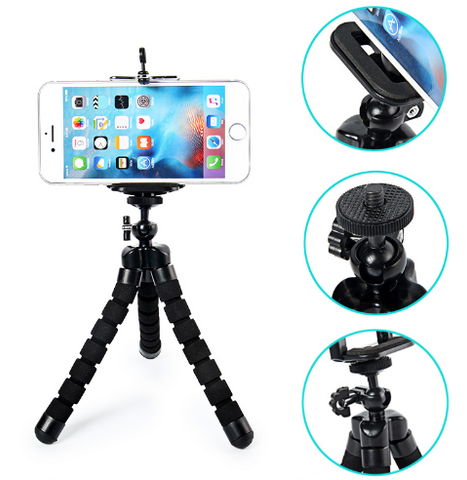 Super Cool Octopus Flexible Tripod for Digital Camera & Mobile Phone, Universal Stand Mount Portable Bicycle Holder Tripod Kit - Factory 46
