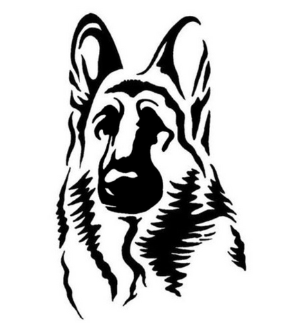 9.4*15.2CM German Shepherd Shepard Dog Car Sticker Car Styling Window Decorative Decals Black/Silver