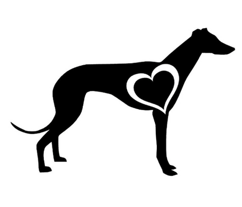 10CM GREYHOUND DOG LOVE HEART Car Sticker Decals Stickers Car Accessories - Factory 46
