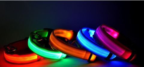 Nylon Pet LED Dog Collar Night Safety LED Flashing Glow LED - Factory 46