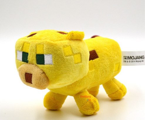 24cm Minecraft Plush Toys Yellow Minecraft Ocelot Stuffed Cat Animal Plush Toys